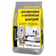 Imagem de Rejunte Porcelanato Weber Bege Saco/5kg - Quartzolit