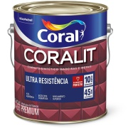 Imagem de Tinta Esmalte Sintético Acetinado Premium 3,6L - Branco Neve - Coralit Coral