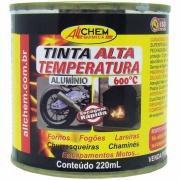 Imagem de Tinta Alta Temperatura 600°C 0,22L Alumínio - Allchem Química