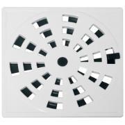 Imagem de Grelha de Plástico Quadrada para Esgoto Giratória Branca GRB5 - Astra