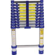 Imagem de Escada Telescópica em Alumínio 3,12m 10 Degraus Prata 150kg - Mor