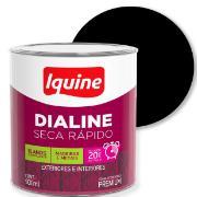 Imagem de Tinta Esmalte Sintético Fosco Premium 0,9L - Preto - Dialine Iquine