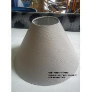 Imagem de Cúpula para Abajur Cônica em Tecido 10cm x 30cm Bege - Fendi Cúpulas São Jorge