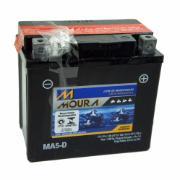 Imagem de Bateria Automotiva para Moto 12V 5Ah Polo Positivo Direito MA5-D - Moura
