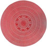 Imagem de Pano Americano Redondo 41 cm 1 Peça PVC Vermelho - Yangzi