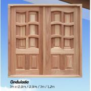 Imagem de Janela de Madeira de Abrir Ondulada 2 Folhas 100x100 cm Lyptus - KDK
