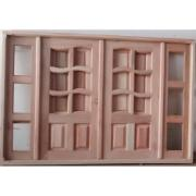 Imagem de Janela de Madeira de Abrir Ondulada 2 Folhas 100x150 cm Lyptus J00 - KDK