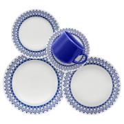 Imagem de Aparelho de Jantar de Cerâmica 20 Peças Azul Donna 5108 - Biona