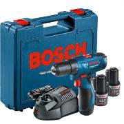 Imagem de Furadeira e Parafusadeira a Bateria 12V com Impacto Reversível 220V - GSB1200 - Bosch