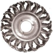 """Imagem de Escova Circular Aço Carbono 4"""" Fio Torcido Furo central 16mm - Loyal"""