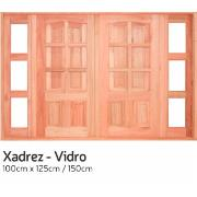 Imagem de Janela de Madeira de Abrir Xadrez 2 Folhas 100x150 cm Lyptus - KDK