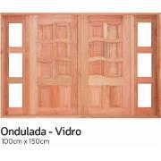Imagem de Janela de Madeira de Abrir Ondulada 2 Folhas 100x150 cm Lyptus - KDK