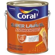 Imagem de Tinta Acrílica Eggshell Premium 3,6L - Branco Neve - Super Lavável Coral