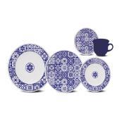Imagem de Aparelho de Jantar de Cerâmica 20 Peças Azul J613-6795 - Oxford