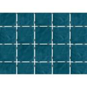 Imagem de Revestimento de Parede Brilhante Craquelada 1,59m² 7,5x7,5cm Azul Mar Onda Mesh - Eliane