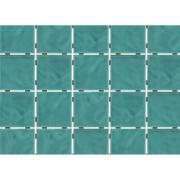 Imagem de Revestimento de Parede Brilhante Craquelada 1,59m² 7,5x7,5cm Verde Água Onda Mesh - Eliane