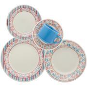Imagem de Aparelho de Jantar de Cerâmica 20 Peças Azul claro - Oxford