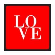 Imagem de Placa Decorativa em MDF 25x25 cm Love 67875 - Kapos