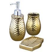 Imagem de Jogo para Banheiro de Cerâmica 3 Peças Lavabo Ouro UDB18035B - Bianchini