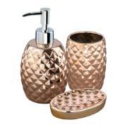 Imagem de Jogo para Banheiro de Cerâmica 3 Peças Bronze UDB18077B - Bianchini