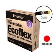 Imagem de Cabo Flexível Antichamas Ecoflex 2,50 mm² 100 m 750V 1 Condutor Vermelho - Prysmian