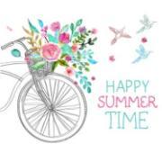 Imagem de  Quadro Decorativo em Canvas 25x25 cm Bike - Jolie