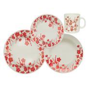 Imagem de Aparelho de Jantar de Cerâmica 12 Peças Vermelho - Biona