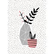 Imagem de  Quadro Decorativo em Canvas 25x25 cm Suculenta - Jolie