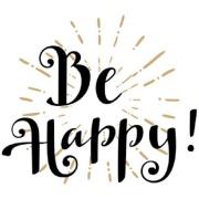 Imagem de  Quadro Decorativo em Canvas 25x25 cm Be Happy - Jolie