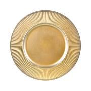 Imagem de Sousplat Redondo de Plástico 33cm Dourado 41276-152 - G.Presentes