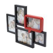 Imagem de Painel Multifotos 33,5x42 cm Preto e Vermelho 25296 - Rojemac