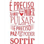 Imagem de Placa Decorativa em MDF 30x20 cm Amor e Paz 68419 - Kapos