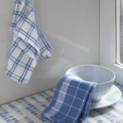 Imagem de Conjunto de Pano de Copa com 2 Peças Waffle Azul - Corttex