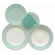 Imagem de Aparelho de Jantar de Cerâmica 20 Peças Turquesa - Biona