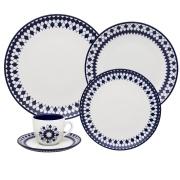 Imagem de Aparelho de Jantar de Porcelana 20 Peças Chess Azul Escuro - Oxford