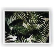 Imagem de Bandeja Luxo Retangular de Madeira 25x35cm com Alça - Art Frame