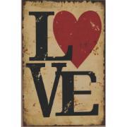 Imagem de Placa Decorativa em MDF 30x20 cm Love 68636 - Kapos