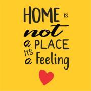 Imagem de Placa Decorativa em MDF Home 25x25 cm 68642 - Kapos