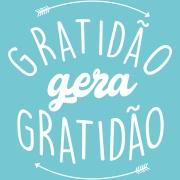 Imagem de Placa Decorativa em MDF 25x25 cm Gratidão Gera Gratidão 68643 - Kapos