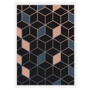 Imagem de Quadro Decorativo 73x53 cm Geométrico Branco 540987 - Euroquadros