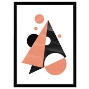 Imagem de Quadro Decorativo 73x53 cm Abstrato Preto 541014 - Euroquadros