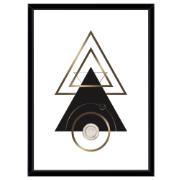 Imagem de Quadro Decorativo 73x53 cm Geométrico Preto 541052 - Euroquadros