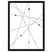 Imagem de Quadro Decorativo 73x53 cm Geométrico Preto 541069 - Euroquadros