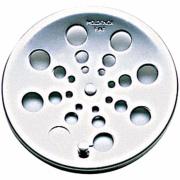 Imagem de Grelha de Inox Redonda para Esgoto Fecho 10cm sem Caixilho 122 - Moldenox