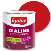 Imagem de Tinta Esmalte Sintético Alto brilho Premium 0,9L - Vermelho - Dialine Iquine