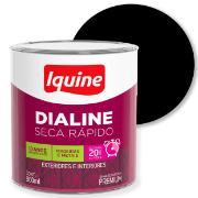 Imagem de Tinta Esmalte Sintético Alto brilho Premium 0,9L - Preto - Dialine Iquine