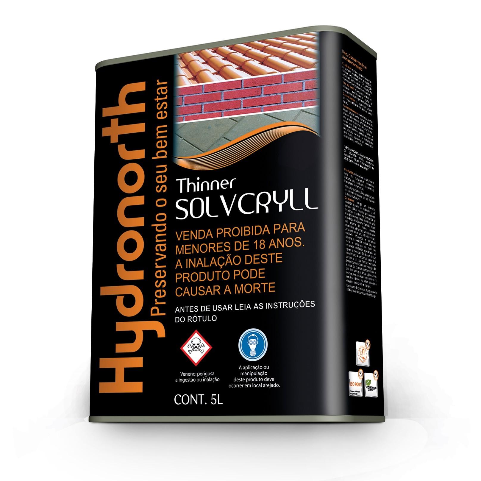 Solvente para Resina Thinner Sovcryll 5 Litros - Hydronorth