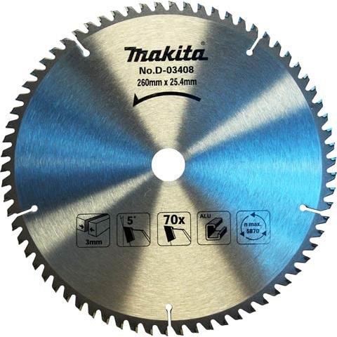 Disco Lamina de Serra 260 mm 70 Dentes D-03408 - Makita