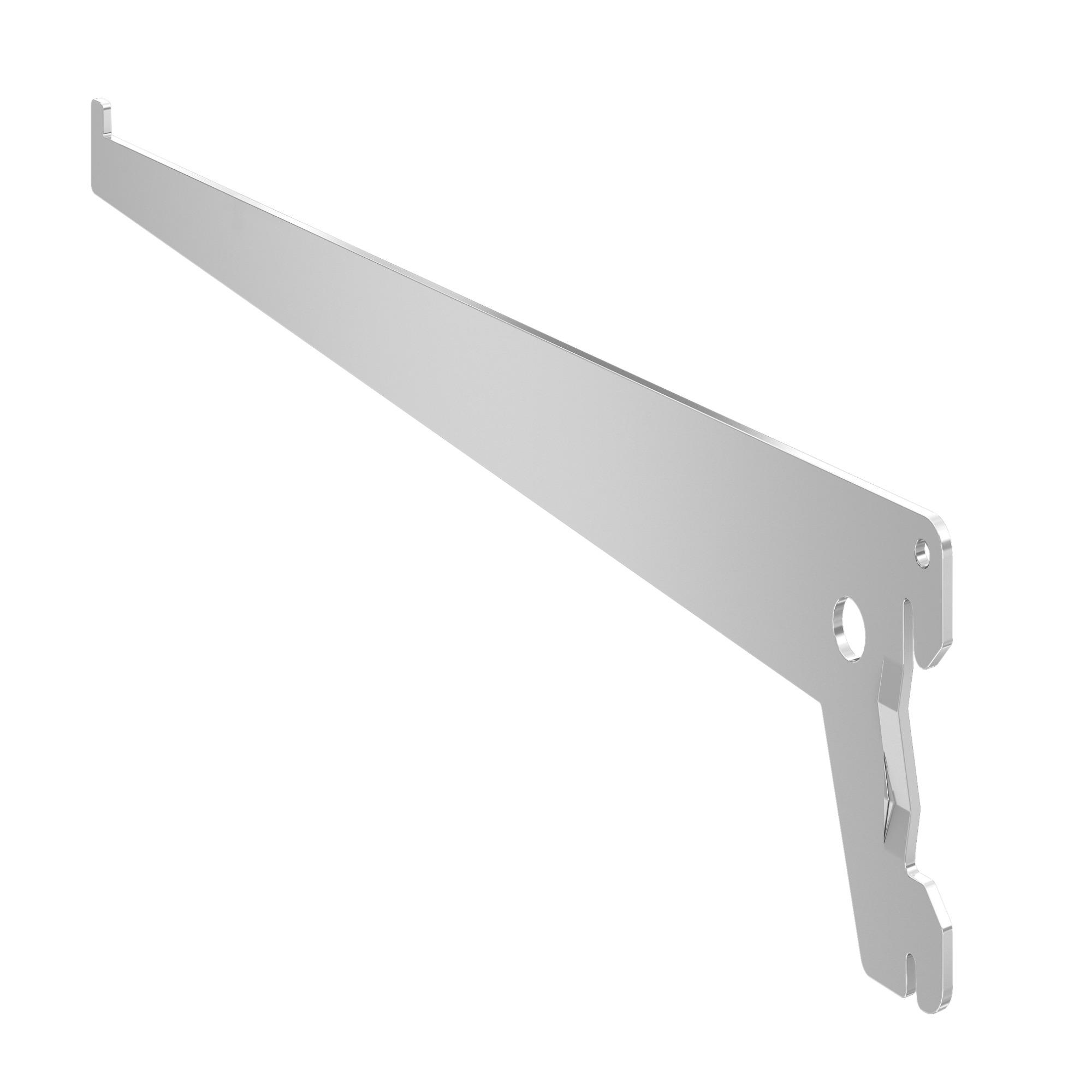 Suporte para Trilho Meia-Cana 30 cm Zincado - Fico