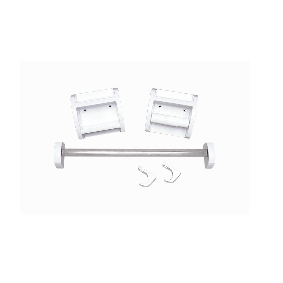 Kit De Acessorios para Banheiro de Parede Plastico 5 Pecas Branco - KB2 Astra